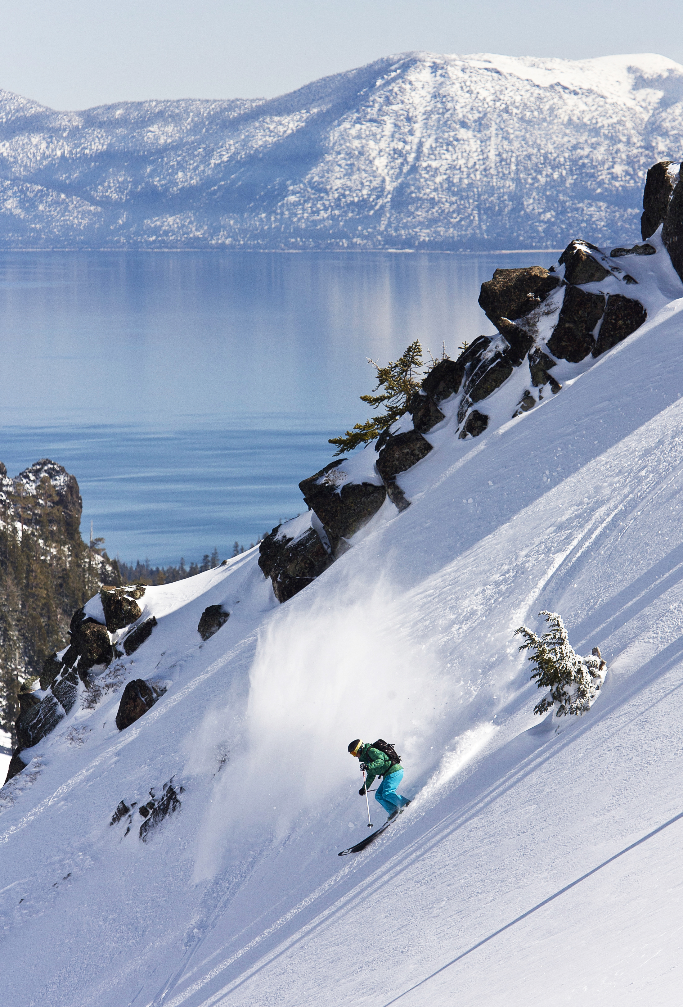 Photograph of skier at Alpine Meadows
