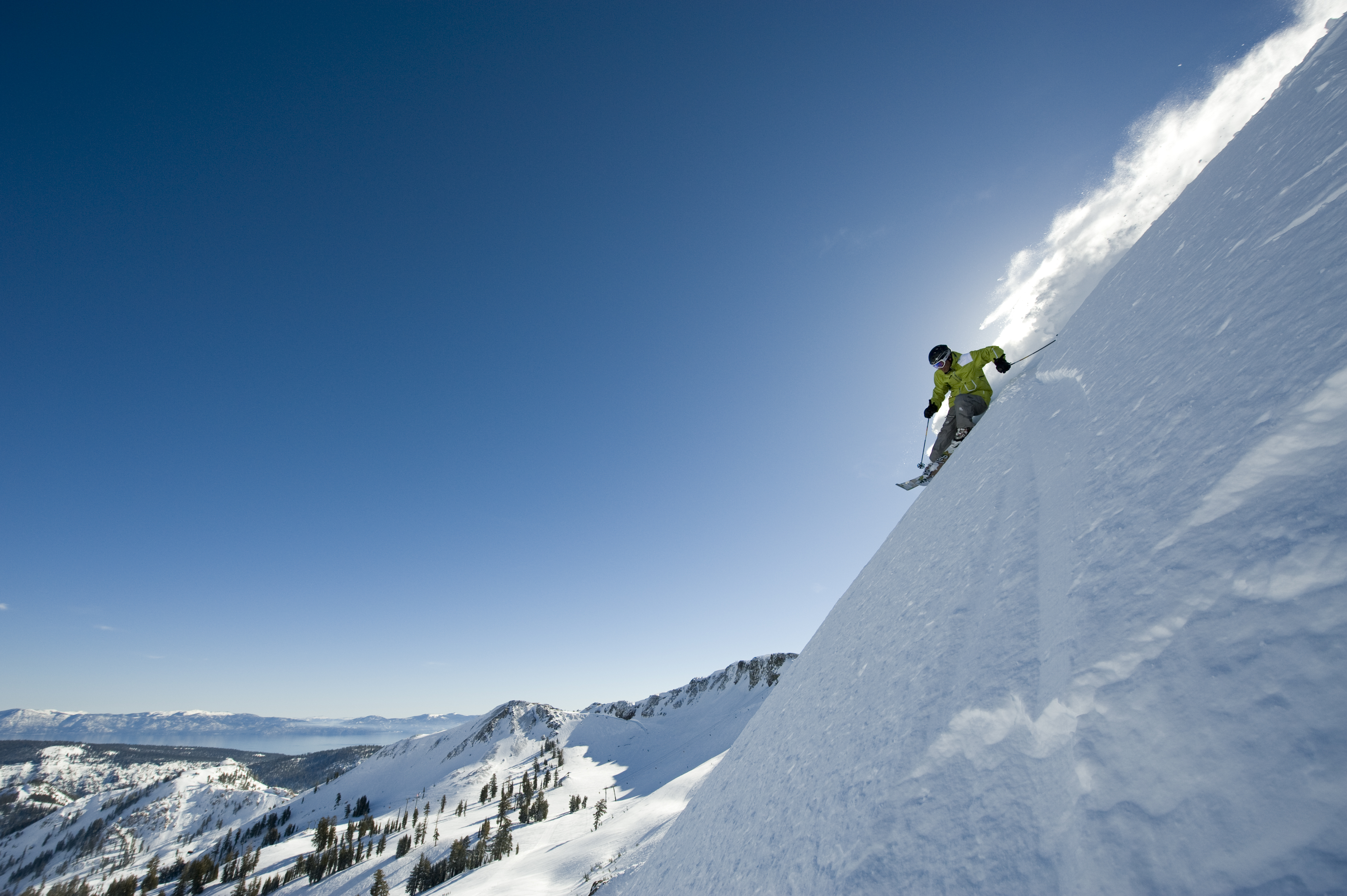 Photograph of skier at Squaw Valley